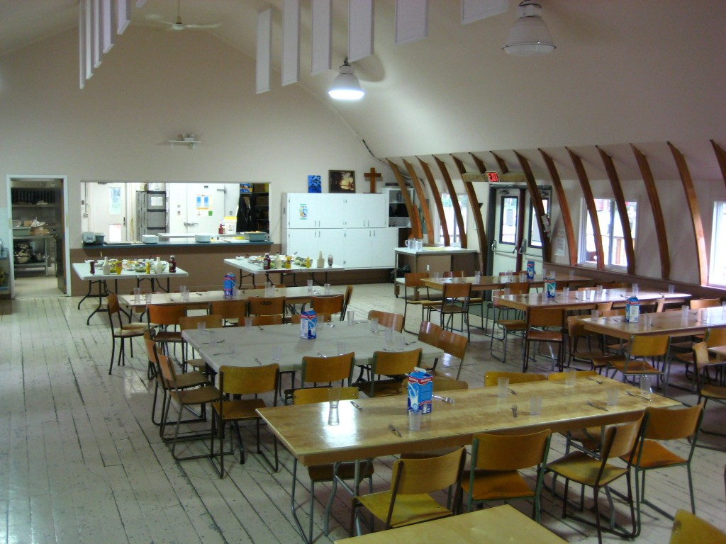 Dining hall interior camp kasota west for Dining hall interior