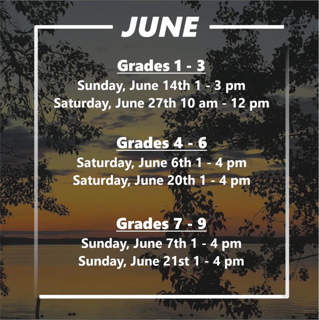Online programming schedule for June 2020
