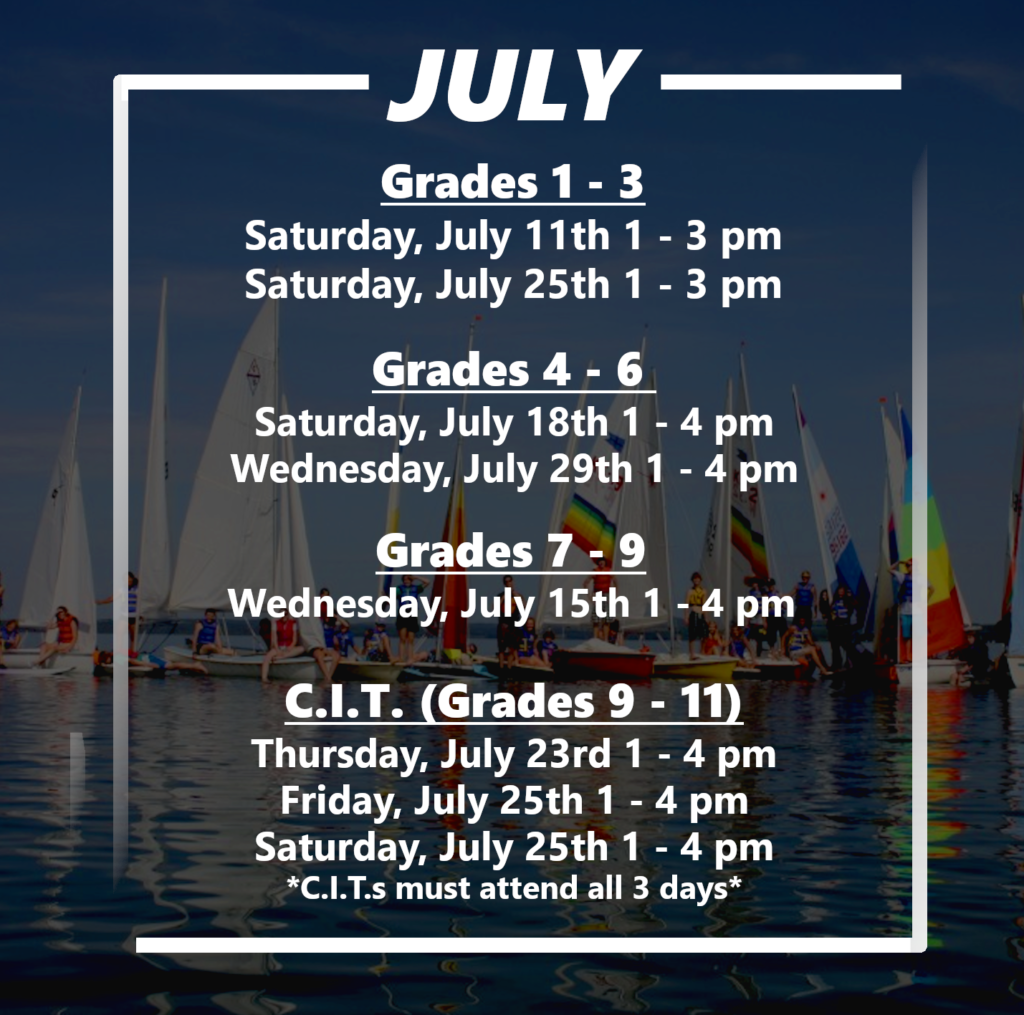 Online Programming Schedule for July 2020